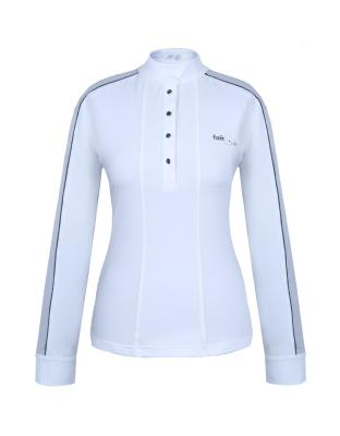 Polo CLAIRE manches longues blanc FP